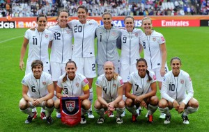 Team USA Soccer Football FIFA 2011 Women USA vs France