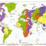 Map of World Time Zones