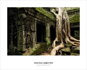 Ta Prohm - Royal temple taken by jungle. Angkor, Cambodia