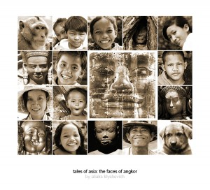 A book cover contains the images taken in Angkor, Siem Reap, Cambodia
