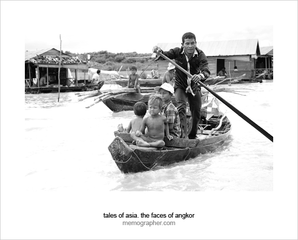 Floating village on Tonle Sap Lake - Great Lake of Cambodia