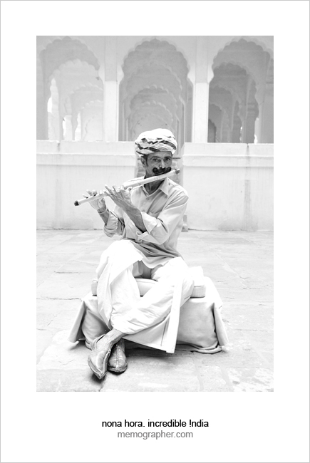 Musician. Blue City, Jodhpur, Rajasthan, India.