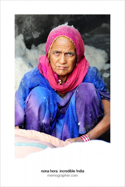 Rajasthani Woman. Blue City, Jodhpur, Rajasthan, India.