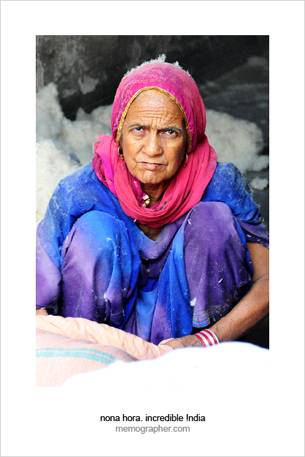 Rajasthani Woman. Blue City, Jodhpur, Rajasthan, India.