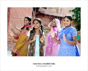 Dancing Women and Girls. Sambhali Trust, Jodhpur, Rajasthan, India