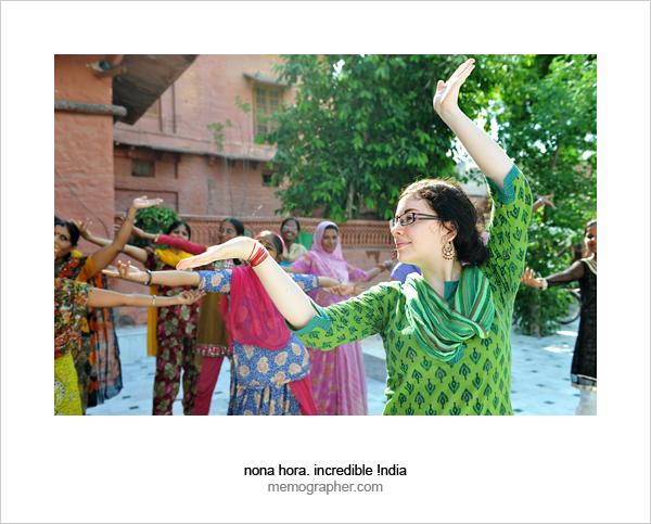 Marta, Volunteer Tutor. Dancing Lesson at Sambhali Trust