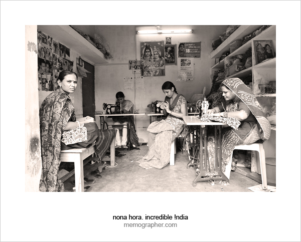 Women in Sambhali Trust Sewing Center, Jodhpur, Rajasthan, India