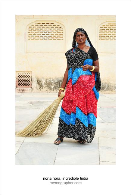 Rajasthani Woman. Jaipur, Rajasthan, India
