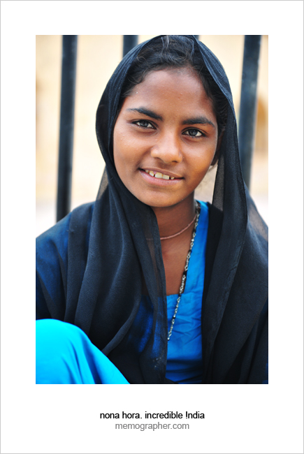 Indian Girl. Amer, Rajasthan, India