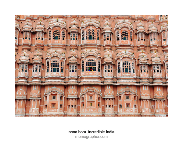 Hawa Mahal (Palace of Winds). Jaipur, Rajasthan, India