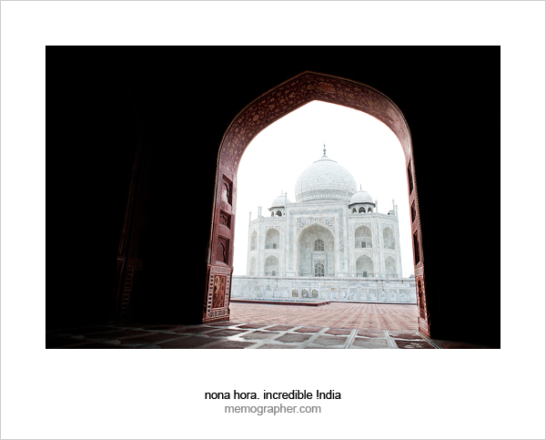 Sunrise at Taj Mahal. Agra, India