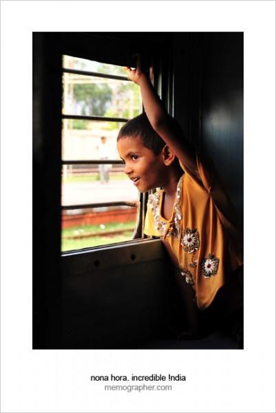 Sanya. Jaipur - Agra Express Train, India