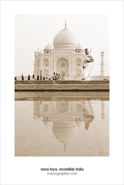Indian Woman at Taj Mahal Gardens. Agra, India