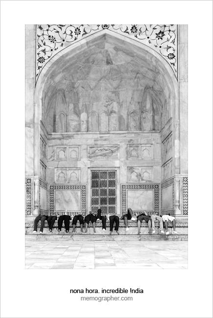 Tourists at Taj Mahal. Agra, India