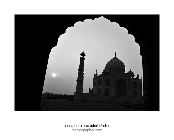 Sunrise at Taj Mahal. Agra, India