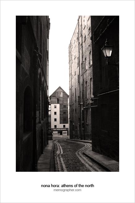 Narrow Streets of Edinburgh. Scotland