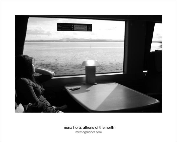 On a train. Edinburgh - Perth, Scotland