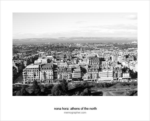 Aerial view of Old City. Edinburgh, Scotland
