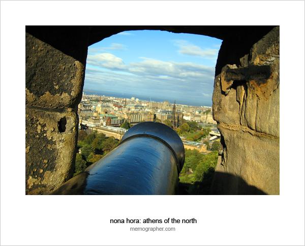 Cannon in the Edinburgh Castle fortress window
