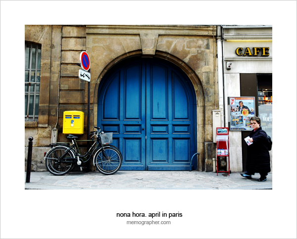 The Blue Door. Paris France