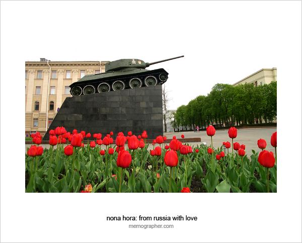 Tank T-34 WWII Monument. Minsk, Belarus