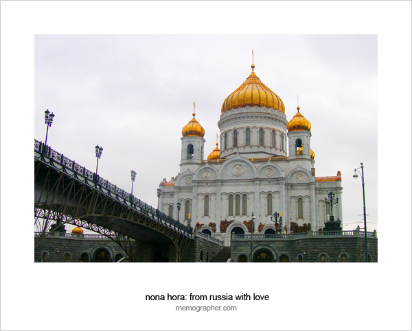 The Cathedral of Christ the Saviour. View from Moscow River. Moscow, Russia