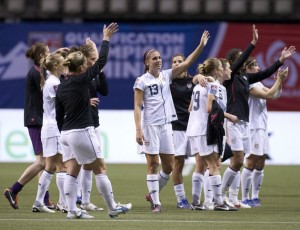 Winners Alex Morgan, Abby Wambach, Carli Lloyd, Hope Solo, USA Soccer Women Olympic Team