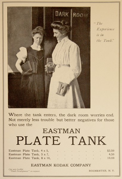 Estman Plate Tank. Eastman Kodak Advertisement