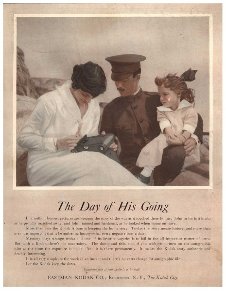 The Day of His Going. Eastman Kodak Advertisement
