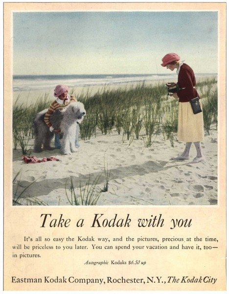 Take a Kodak with you. Eastman Kodak Advertisement