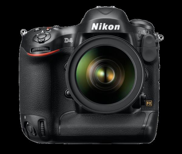 Nikon D4. Front View