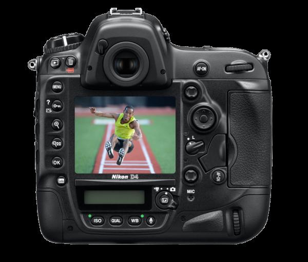 Nikon D4. Back View