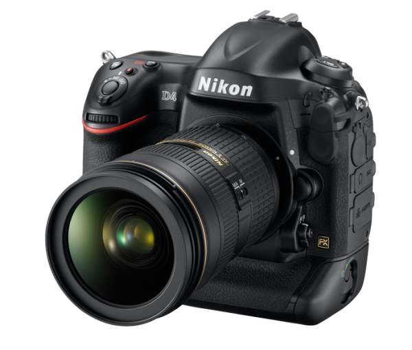 Nikon D4. Left Side View
