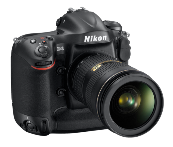 Nikon D4. Right Side View