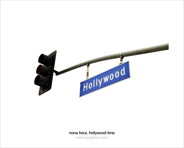 Hollywood Sign on Hollywood Blvd Traffic Light