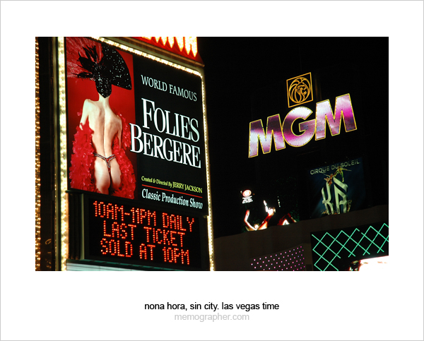Folies Bergere Ad. Las Vegas, Nevada