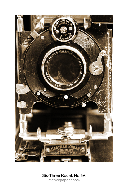 Six-Three Kodak No 3A. Memographer's Collection of Antique & Classic Cameras