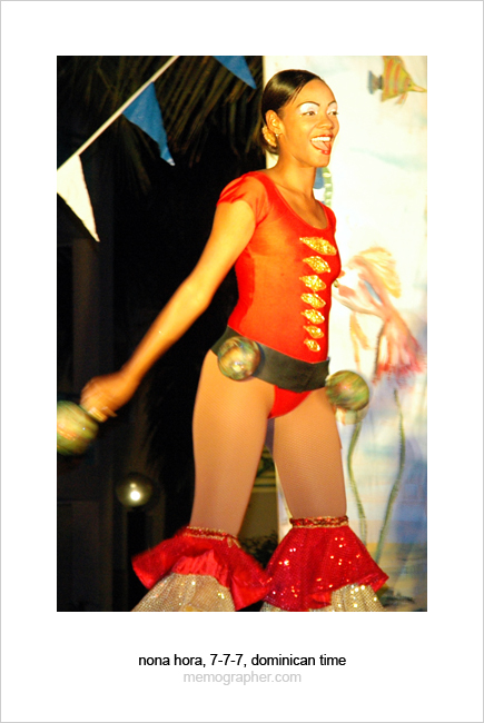 Entertainment Team Girl Dancer. Dominican Republic
