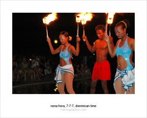 Night Performance with Torches. Dominican Republic
