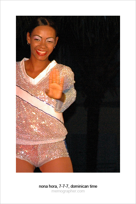 A Cute Dominican Girl Dancing. Dominican Republic