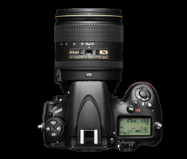 Nikon D800. Top View