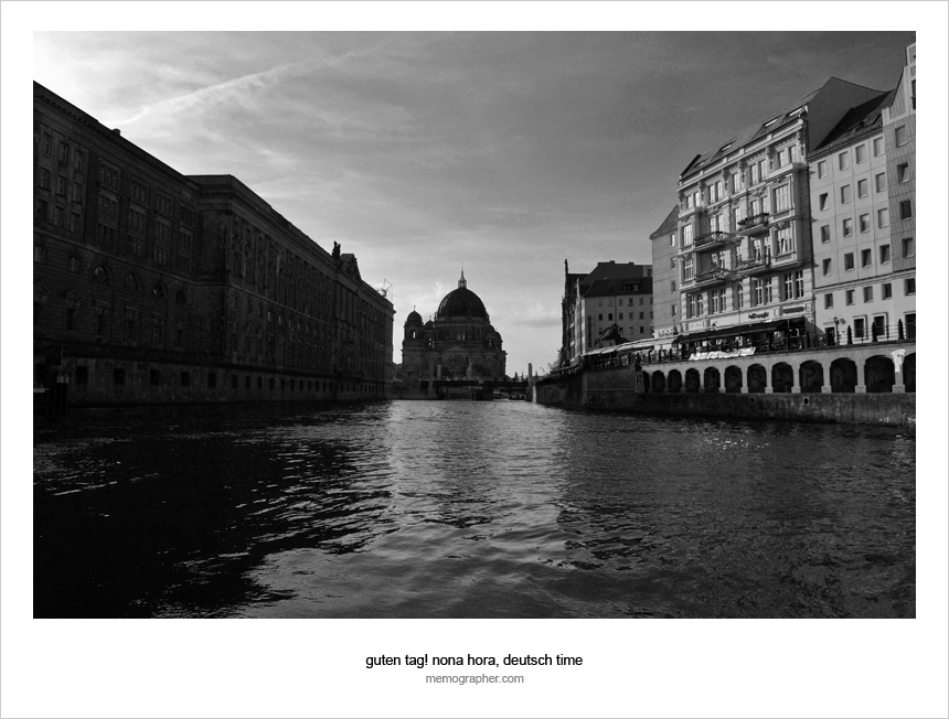 Berlin in Black and White from the River Spree