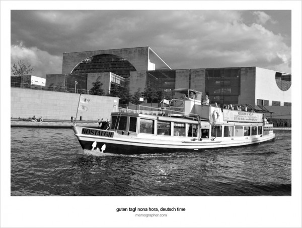 Berlin in Black and White as seen from the River Spree