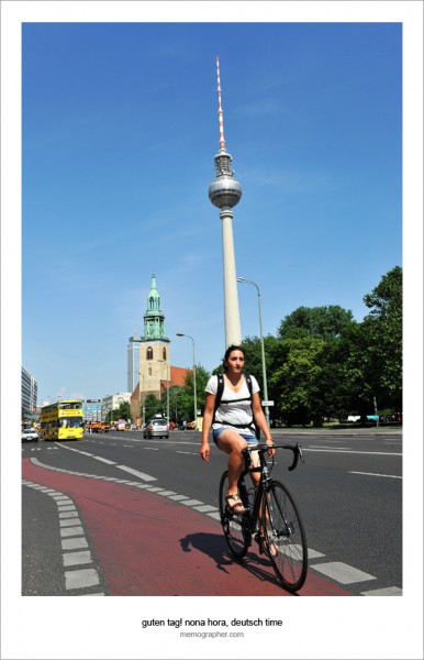 Girl on Bike. Berlin, Germany