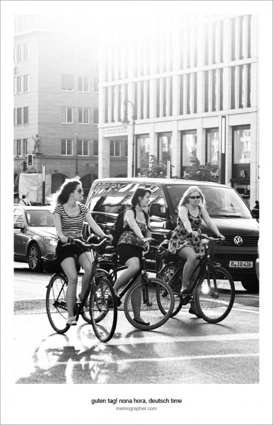 Girls on Bikes. Berlin, Germany