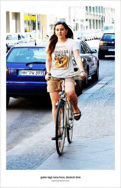 Ladies and Bicycles. Berlin, Germany