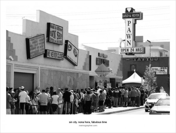 A line at Gold &amp; Silver Pawn Stars Shop in Las Vegas, Nevada