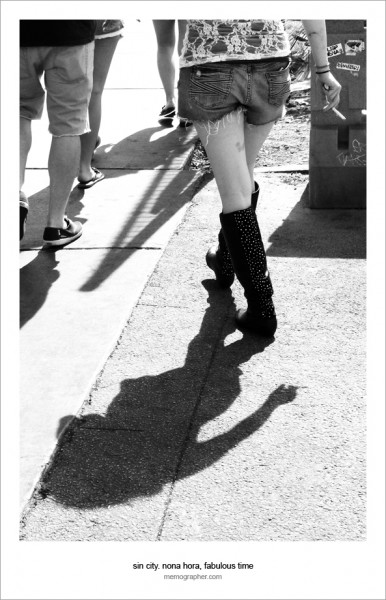 A Cigarette, Cowboy Shoes, and Shadow. Las Vegas, Nevada 