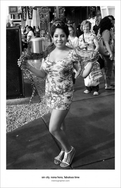 A Girl with a Snake. Las Vegas, Nevada 