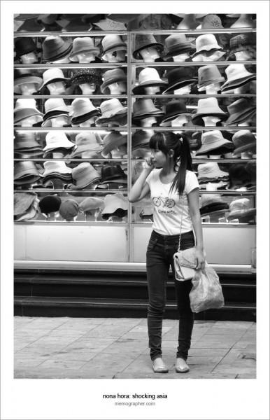 A Girl on the Phone. Hanoi, Vietnam